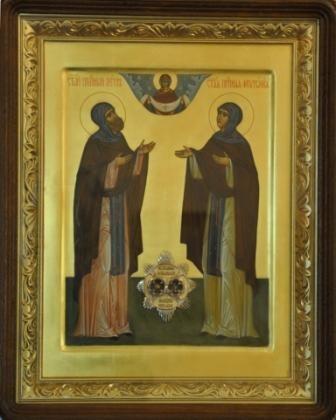 икона святых благоверных князя Петра и княгини Февронии